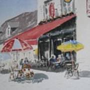 A L'ombre D'une  Terrasse D'un  Cafe  Shadow Of An Outdoor Pub Print by Dominique Serusier