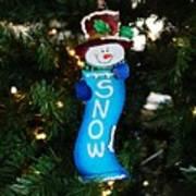 A Long Snow Ornament- Horizontal Art Print