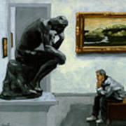 A Lot To Think About - Oil Painting Art Print