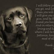 A Loving Dog Art Print