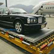 A Luxury Bentley Unloaded From An Art Print by Justin Guariglia