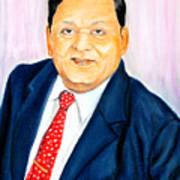 A M Naik Portrait Art Print