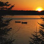 A Maine Sunset Art Print