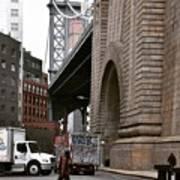A Man And A Bridge Art Print