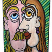 A Man And A Woman With Brown Eyes... - Un Homme Et Une Femme Aux Yeux Bruns... Art Print