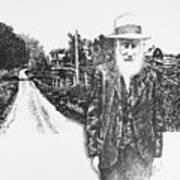 A Man And His Farm Art Print