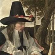 A Man Reading, Anonymous, C. 1660 Art Print