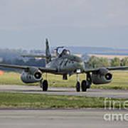 A Messerschmitt Me-262 Replica Taxiing Art Print