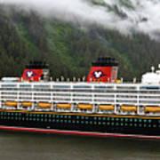A Mickey Mouse Cruise Ship Art Print
