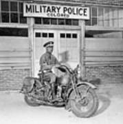 A Military Police Officer Posed Art Print