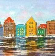 A Modern Take On Curacao Art Print
