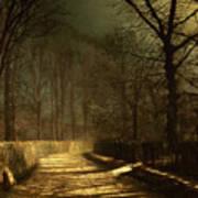 A Moonlit Lane Art Print