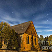 A Moonlit Nightscape Of The Historic Art Print