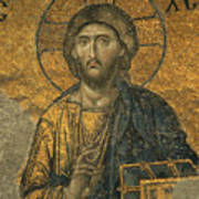 A Mosaic Of Jesus The Christ At St Art Print