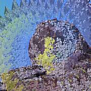 A Mossy Rock  Art Print