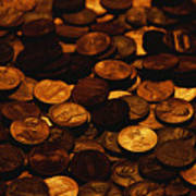A Mound Of Pennies Art Print by Joel Sartore