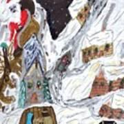 A Mountain Village Art Print