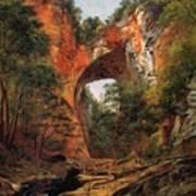 A Natural Bridge In Virginia Art Print by David Johnson