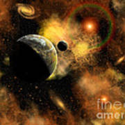 A Nebulous Star System In A Distant Art Print