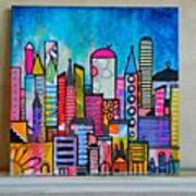 A New 12 X12 #cityscape #collage Art Print
