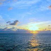 A New Dawn At Sea Art Print