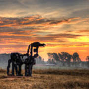 A New Day The Iron Horse Art Print