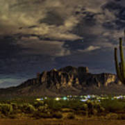 A Night In The Superstitions  Art Print