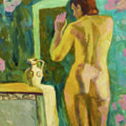 A Nude And Light Art Print