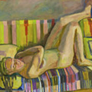 A Nude Lying Legs Up Art Print