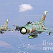 A Pair Of Bulgarian Air Force Mig-21bis Art Print