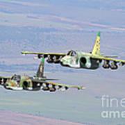 A Pair Of Bulgarian Air Force Sukhoi Art Print