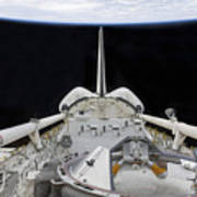 A Partial View Of Space Shuttle Art Print by Stocktrek Images