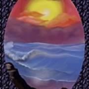A Pastel Seascape  Art Print