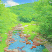 A Peaceful Summer Day In Southern Vermont. Art Print