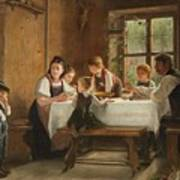 A Peasant Family At Their Meal With A Crying Boy Art Print