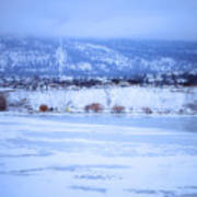 A Penticton Winter Art Print