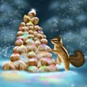 A Perfect Christmas Tree Art Print