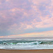 Panoramic Photograph Of A Peaceful Sunrise At Lake St Lucia In South Africa Art Print
