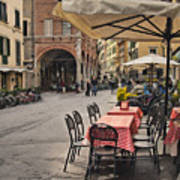 A Pisa Cafe Art Print
