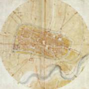 A Plan Of Imola Art Print