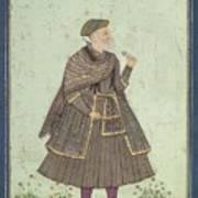 A Portrait Of A Deccani Nobleman Art Print