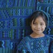 A Portrait Of A Guatemalan Girl Art Print by Raul Touzon