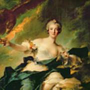 A Portrait Of Anne Josephe Bonnnier De La Mossau  Art Print