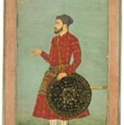 A Portrait Of Khan Zaman Art Print