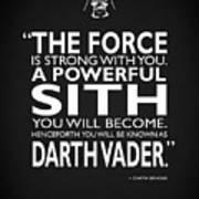 A Powerful Sith Art Print