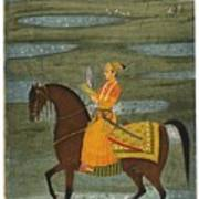 A Prince Riding In A Landscape Art Print