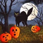 A Purrfect Halloween Art Print