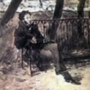 A Pushkin On A Garden Bench 1899 Valentin Serov Art Print