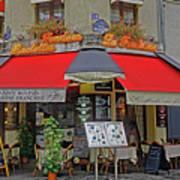 A Quaint Restaurant In Paris, France Art Print