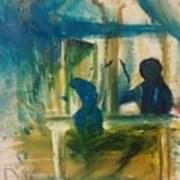A Quiet Conversation Art Print